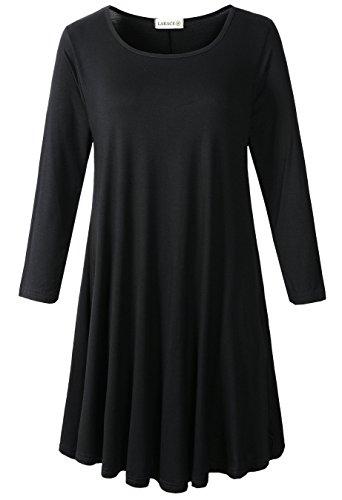 3 4 sleeve black dress - 5