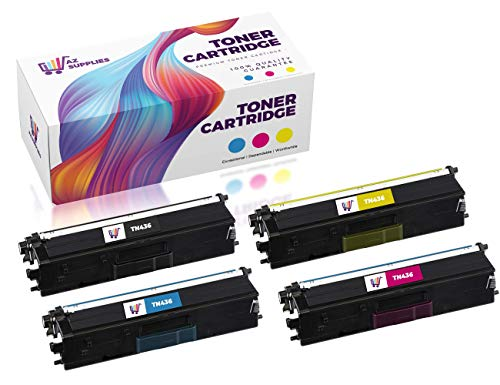 Brother TN436 Toner Cartridge Set - AZ Compatible Toner Cartridge Replacement for Brother HL-L8900cdw MFC L8900cdw (4-Pack Set)