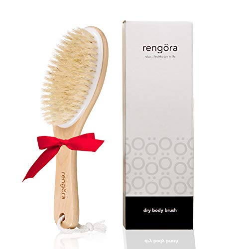 Dry Brushing Body Brush - Exfoliating Brush - Skin Brush Best for Achieving Healthy Skin, Reducing the Appearance of Cellulite, or Improving Lymphatic Drainage. Get Beautiful Skin Today