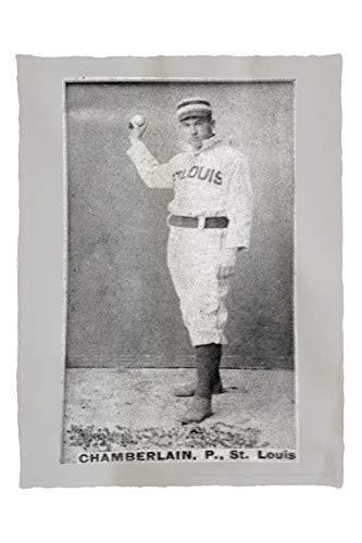 Lantern Press St. Louis Browns - Icebox Chamberlain - Baseball Card 23080 (60x80 Poly Fleece Thick Plush Blanket)