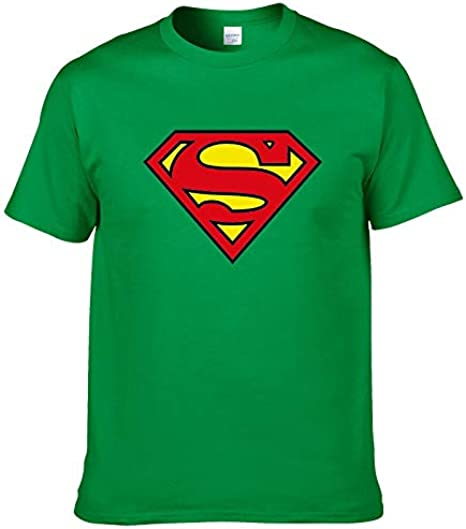 2019moda Superman Camiseta Hombres Verano Estilo Manga Corta 100% algodón Casual Marca Superhéroe Tops Cool Camisetas Beige beige 54: Amazon.es: Ropa y accesorios