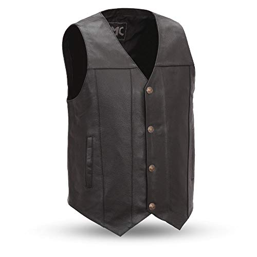First Manufacturing Men's Buffalo Nickel Vest with Dual Side Internal Concealed Gun Pockets (Black, XX-Large)