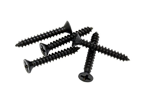 #8 X 2'' Black Xylan Coated Stainless Flat Head Phillips Wood Screw (25 pc) 18-8 (304) Stainless Steel Screw by Bolt Dropper