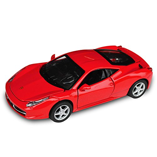Tianmei FLL 458 Supercar Styling 1:32 Alloy Diecast Car Models Collection Kids Toys Decoration Ornaments Light and Sound (Red Color) ()