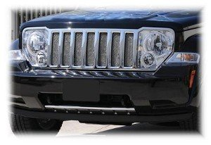- Jeep Liberty Chrome Mesh Grille Insert 08-12 09 10 11 2008-2012 2009 2010 2011