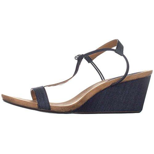 Style & Co. Womens Mulan Open Toe Casual Platform Sandals, Indigo2, Size 9.5 (Platform Sandal Style)