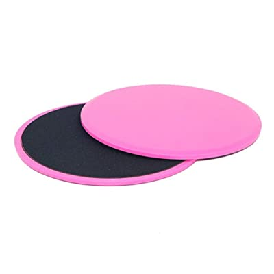 Klsk 2PCS Sliding Slider Gliding Discs Fitness Disc Exercise Sliding Plate for Yoga Gym Abdominal Core Training Exercise Equipment (Color : Round Pink): Home & Kitchen