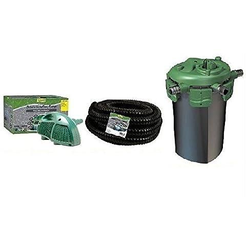 Tetra Pond DHP 4200 Pump, Tetra 4000 Bead Pressure Filter with 18 Watt Uv and Tetra Flexible Tubing - Tetra Tubing