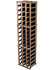 Designer 3 Column Magnum Wine Rack Prime Mahogany Classic Mahogany Stain