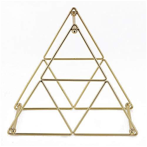 (DJALSKJ Wine Rack Single Bottle Free Standing Wine Rack Metal Elegant Creative Retro Iron Wire Decoration Triangle Wine Rack,Gold)