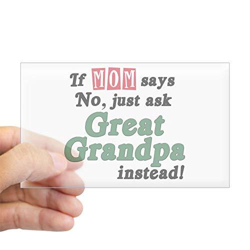 CafePress Just Ask Great Grandpa! Rectangle Sticker Rectangle Bumper Sticker Car (Best Cafepress Great Grandpas)