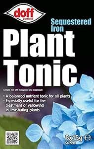 Nueva Doff secuestrada hierro planta Tonic jardín planta alimentar/fertilizantes 5x 15g unidades