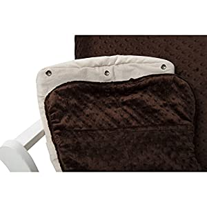 Luxe Basics Cover Me Glider Chair Cover (Chair NOT included), Chocolate Dot