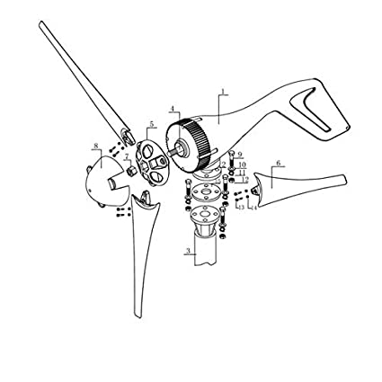 Amazon Com Fidgetfidget Generator Wind Turbine Without Windmill