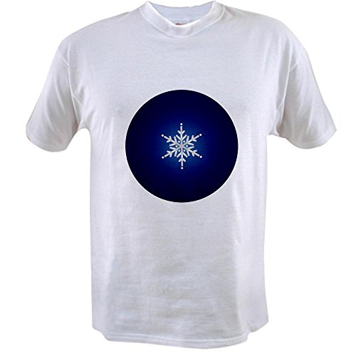T-shirt Snow Value - Truly Teague Value T-Shirt Snowflake on Dark Blue - 4X
