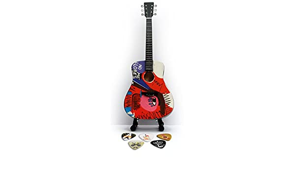 Coldplay Chris Martin Réplica en miniatura de guitarra y púas ...
