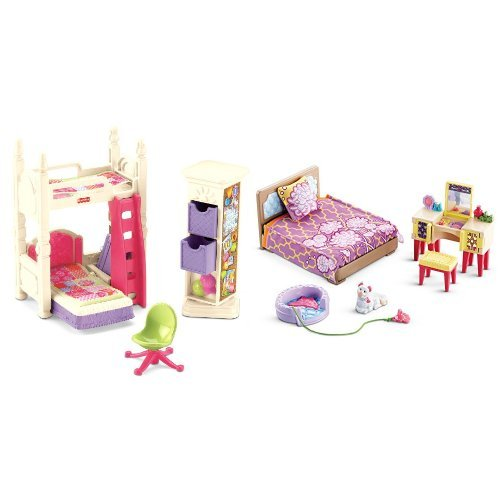Fisher Price Loving Family Deluxe Decor Kids Bedroom and ...