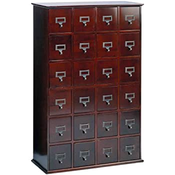 LDE LESLIE DAME Leslie Dame CD 456C Solid Oak Library Card File Media  Cabinet,