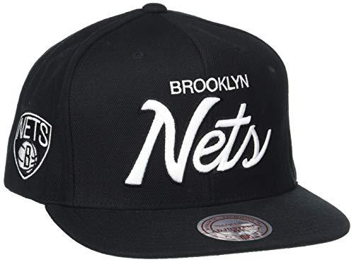 - Mitchell & Ness Men's The Brooklyn Nets Solid Script Snapback Cap One Size Black