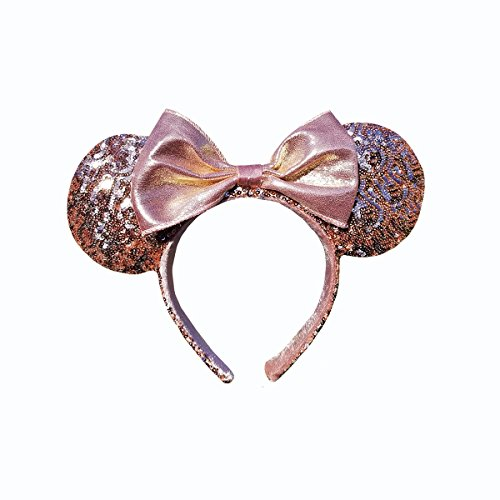 Minnie Mouse Ears Rose Gold Walt Disney World Authentic - World Disney At Shops