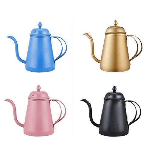 Jili Online 4 Piece Stainless Steel Tea Pot Coffee Pot Hand Drip Pot Kitchen Tool 500ml by Jili Online