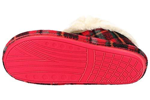 Femme Joe amp; Chaussons Jo Écossais Rouge Pour xw10InTPq