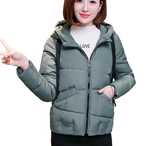 CUCUHAM Women's Sturdy Fashion Winter Warm Hooded Slim Parka Jacket Coat (Green,Medium)