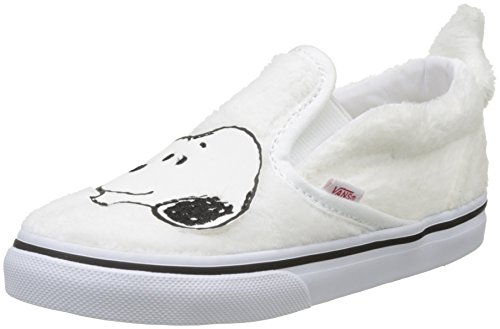 Vans Unisex Babies' Peanuts Classic Slip-on Trainers, White (Peanuts/Snoopy/True White), 9 UK 26.5 EU for $<!--$29.95-->