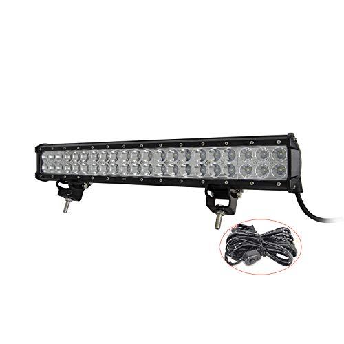 SKYWORLD Extra led-koplamp, 20 inch, 50 cm, 126 W, schijnwerper, combo offroad koplamp met kabelboom voor 4 x 4…