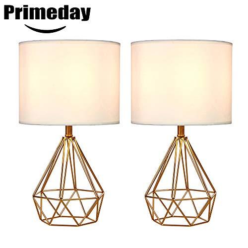 SOTTAE Golden Hollowed Out Base Modern Lamp Bedroom Livingroom Beside Table Lamp, 16