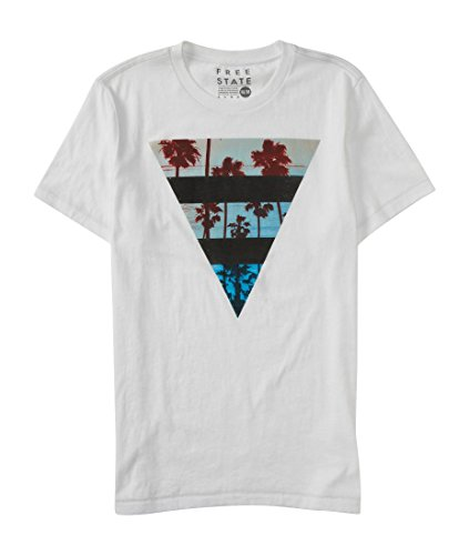 Aeropostale Men's Free State Paradise Triangle Graphic T Shirt M Bleach