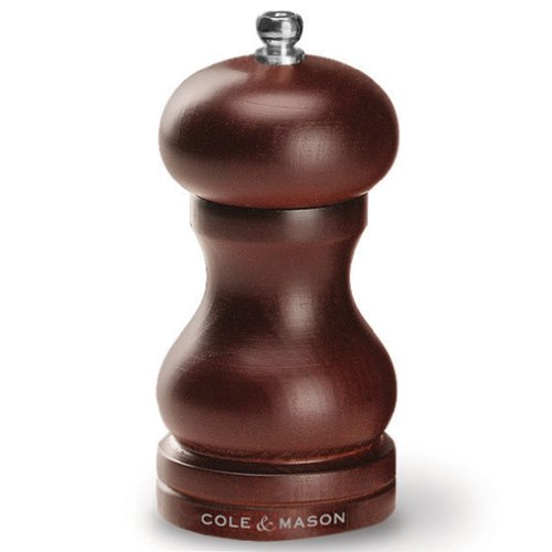 COLE & MASON Capstan Wood Pepper Grinder - Wooden Mill Includes Precision Mechanism, 5 inch