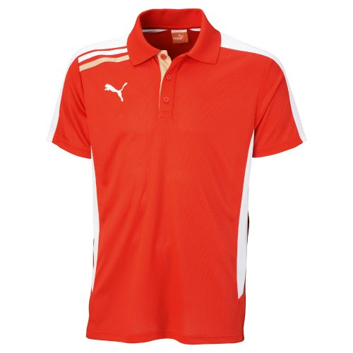 Puma Esito Polo Mens DRY CELL Herren Sport Training Poloshirt Shirt Rot XS