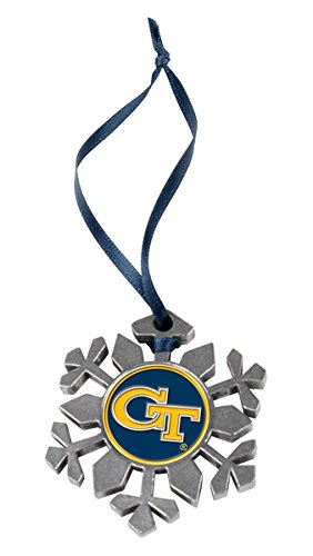 LinksWalker Georgia Tech Yellow Jackets Snowflake - Tech Georgia Holiday Ornament