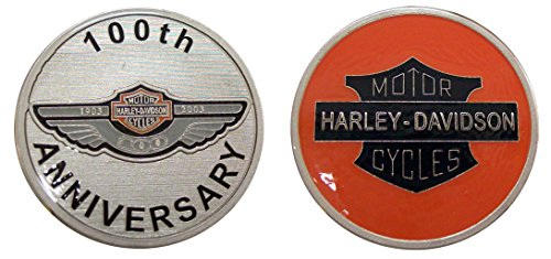 100th Anniversary Coin - Harley Davidson 100th Anniversary Challenge Collectible Coin Logo Metal Lucky Poker Chips & Gift