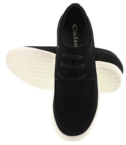 calto–g651806,6cm größer die Höhe Steigerung Aufzug Schuhe–Schwarz Leicht