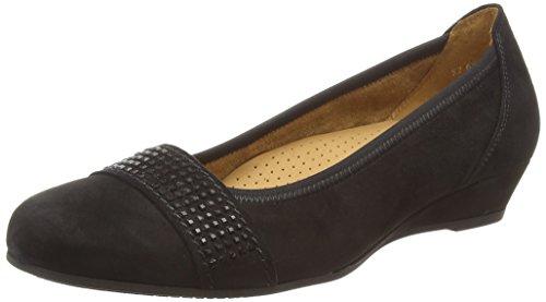 Gabor Shoes Comfort Sport, Zapatos de Tacón para Mujer Negro (Schwarz Schwarz)
