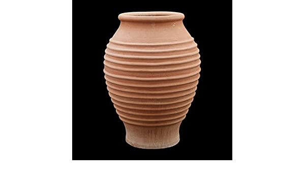 Maceta tradicional Cretan hecho a mano acanalado fascitis Plantar de Koronios stenos - 80 x 60 cm: Amazon.es: Jardín