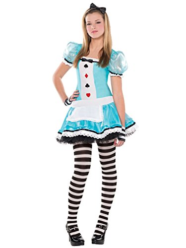 Teen Older Girls Clever Alice 4 Piece Fancy Dress Costume World Book Day Week TV Book Film 10-16 Yrs (10-12 Years)