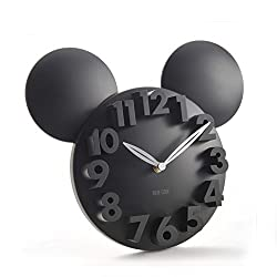 Tobway Modern Design Big Digit 3D Wall Clock Home Decor Decoration Black