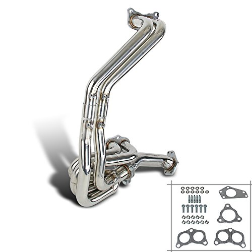 Spec-D Tuning HH2-WRX02-DK Subaru Impreza WRX 2.0/2.5L DOHC Engine S/S Manifold Exhaust Header+Up Pipe