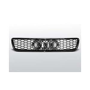 Rejilla para Audi A4 (B5) RS-TYPE 11.94–09.00, color negro: Amazon.es: Coche y moto