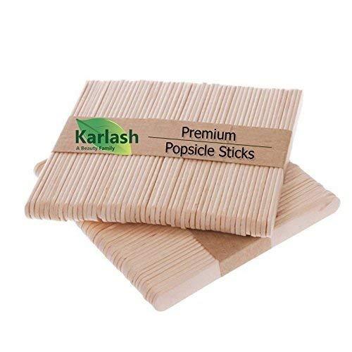 Karlash 200 Pc Craft Sticks Ice Cream Sticks Wooden Popsicle Sticks 4-1/2 Length Treat Sticks Ice Pop Sticks