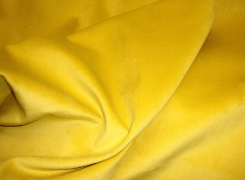 Velvet Micro Plush Canary Upholstery Upholstery and Drapery Fabric Sold BTY 54