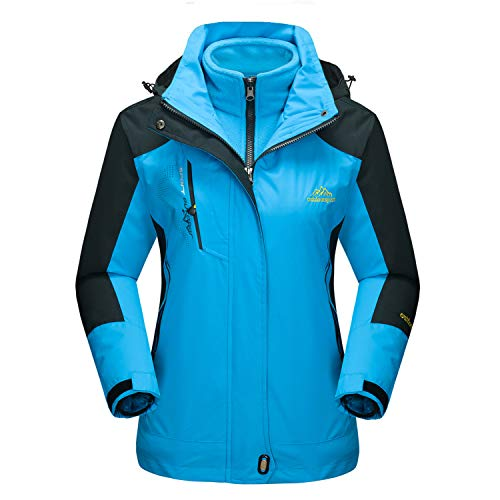 (MAGCOMSEN Windproof Jacket Women Raincoat Ski Jacket Mountain Jacket Climbing Jacket Rain Jackets for Women Blue)