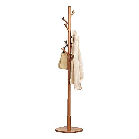 Amazon.com: Wooden Floor Home Bedroom Coat Rack Room ...