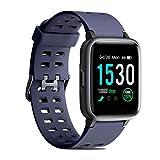 CHEREEKI Fitness Tracker, Fitness Watch with Heart Rate Monitor Waterproof IP68 Smartwatch, Stop Watch, Step Counter, Calorie Counter Sleep Monitor Activity Tracker for Men Women Kids (Blue)