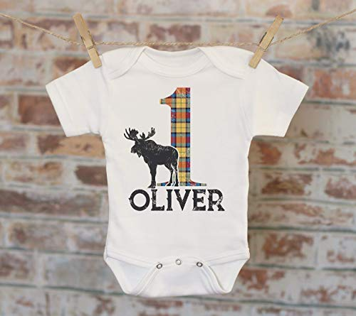 Birthday Scottish Plaid Customized Onesie®, Buffalo Plaid Birthday, Custom Baby Outfit, Personalized Onesie, Boys Birthday