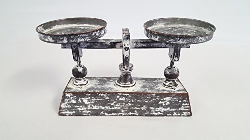 Distressed French Balance Scale Decor ()