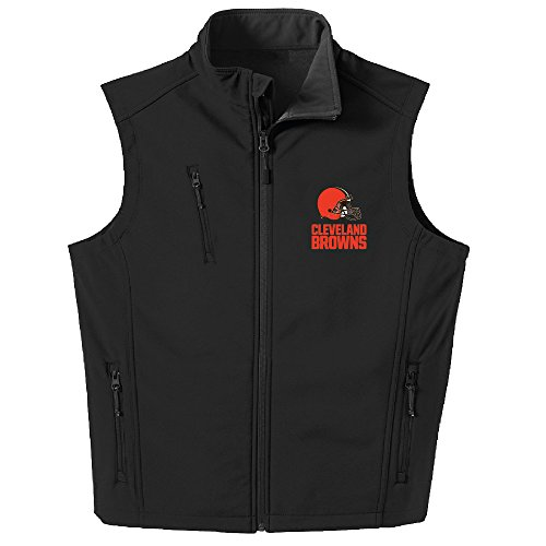 Dunbrooke Apparel NFL Cleveland Browns Men's Archer Workwear Vest, 4X, Black